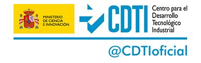 Logo CDTI-MINECO con Gill Sans